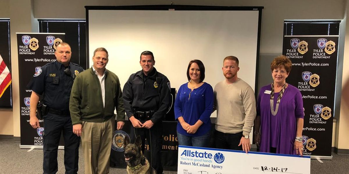 Tyler Police Department receives check to purchase K9 vest