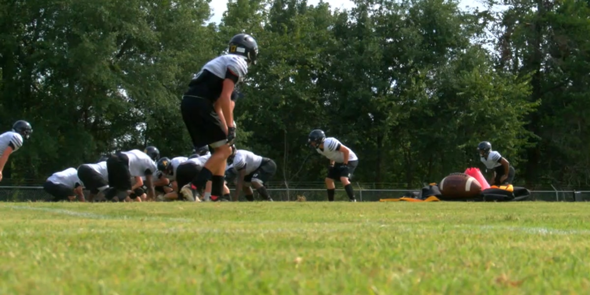 Alto Yellowjackets return to practice field for first time since tornado damaged town, school