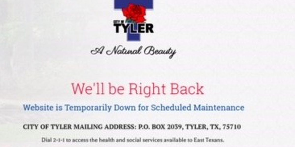 City of Tyler website remains down