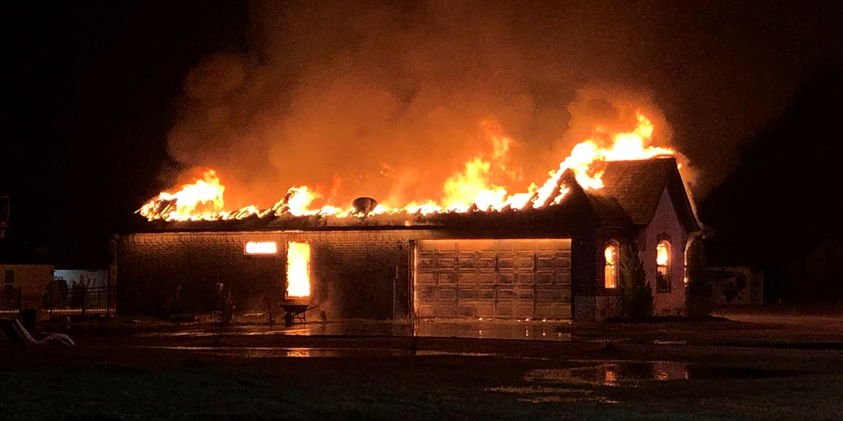 Lindale home catches fire after likely lightning strike