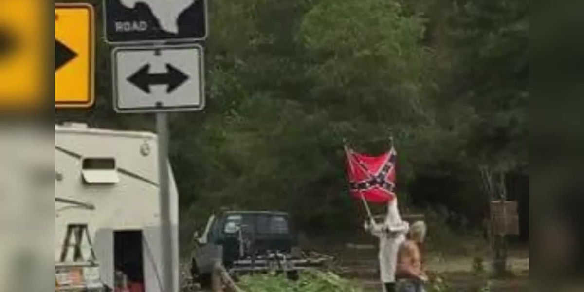Facebook Pictures show 'racist scarecrows' in Anderson County.