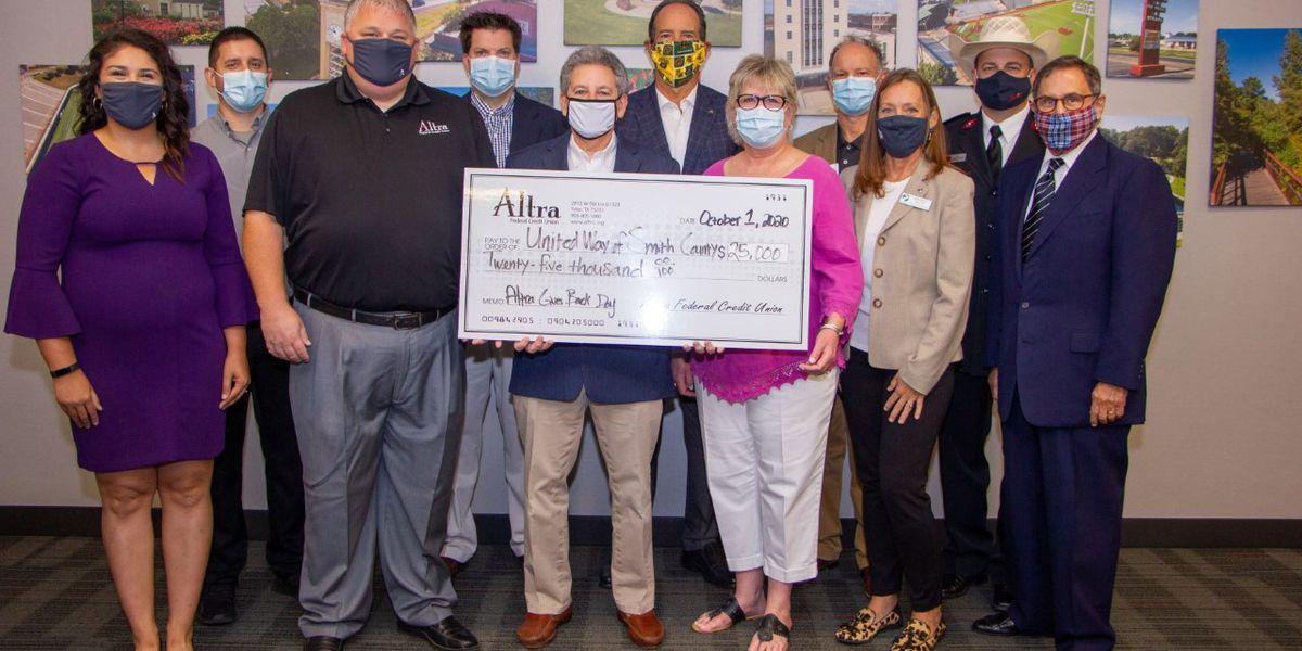Altra Federal Credit Union donates $25K to local organizations