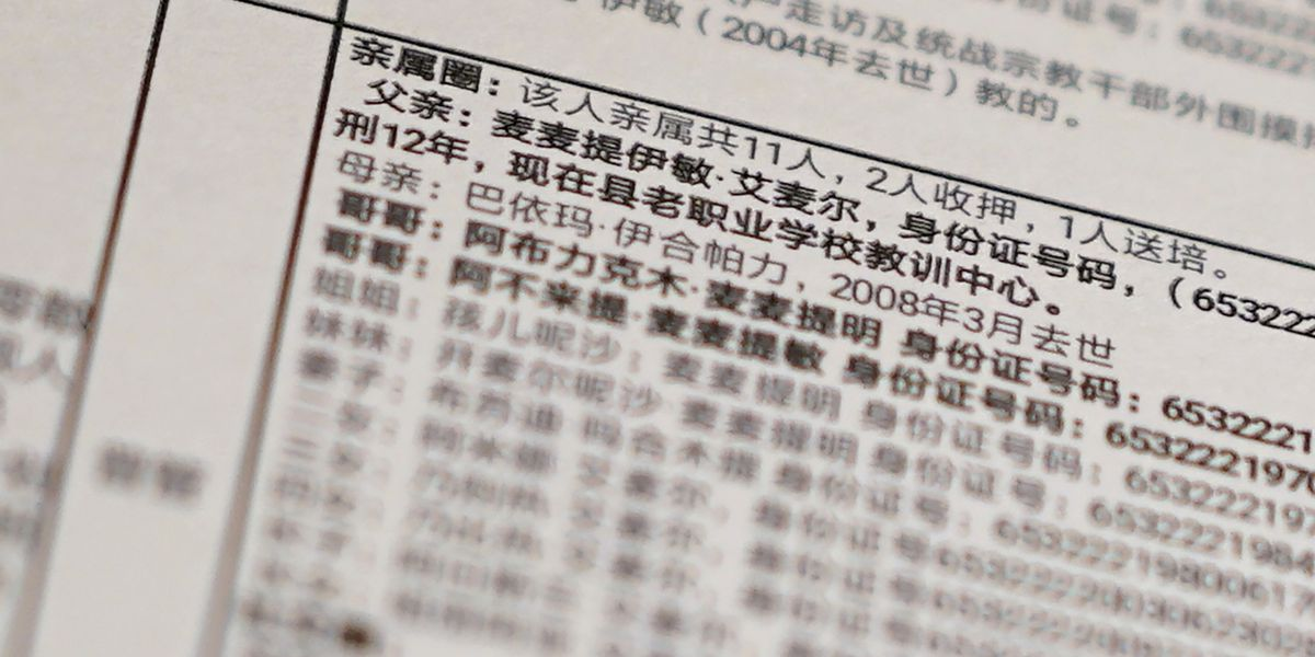 China's 'War on Terror' uproots families, leaked data shows