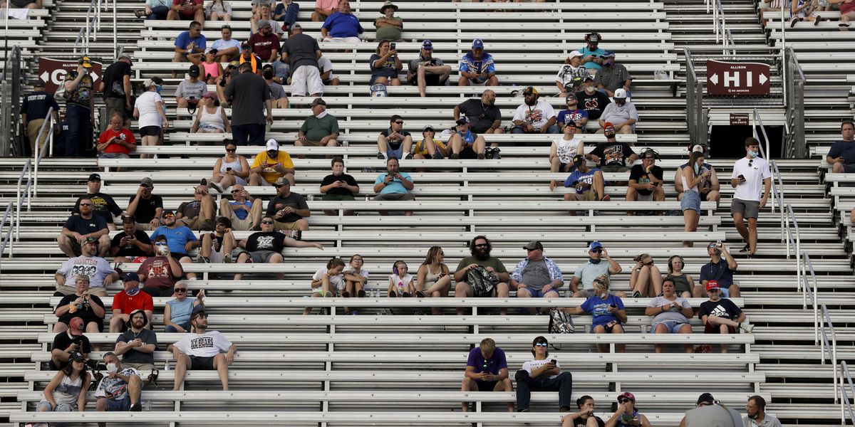 NASCAR hosts largest sporting event crowd since pandemic