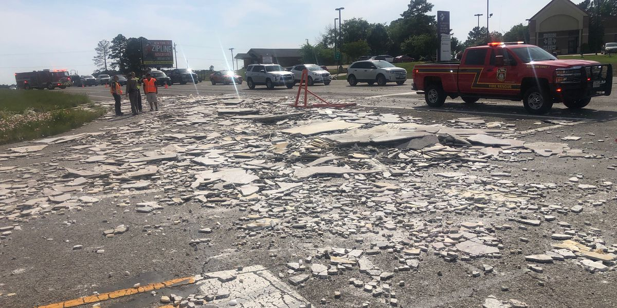 TRAFFIC ALERT: Semi-truck loses load of marble on eastbound FM 344 at Hwy 155 in Tyler