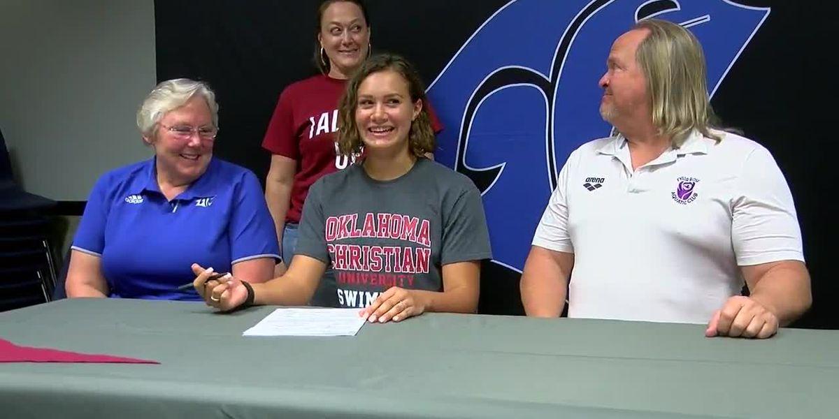 Grace Community senior signs with Oklahoma Christian University swim program