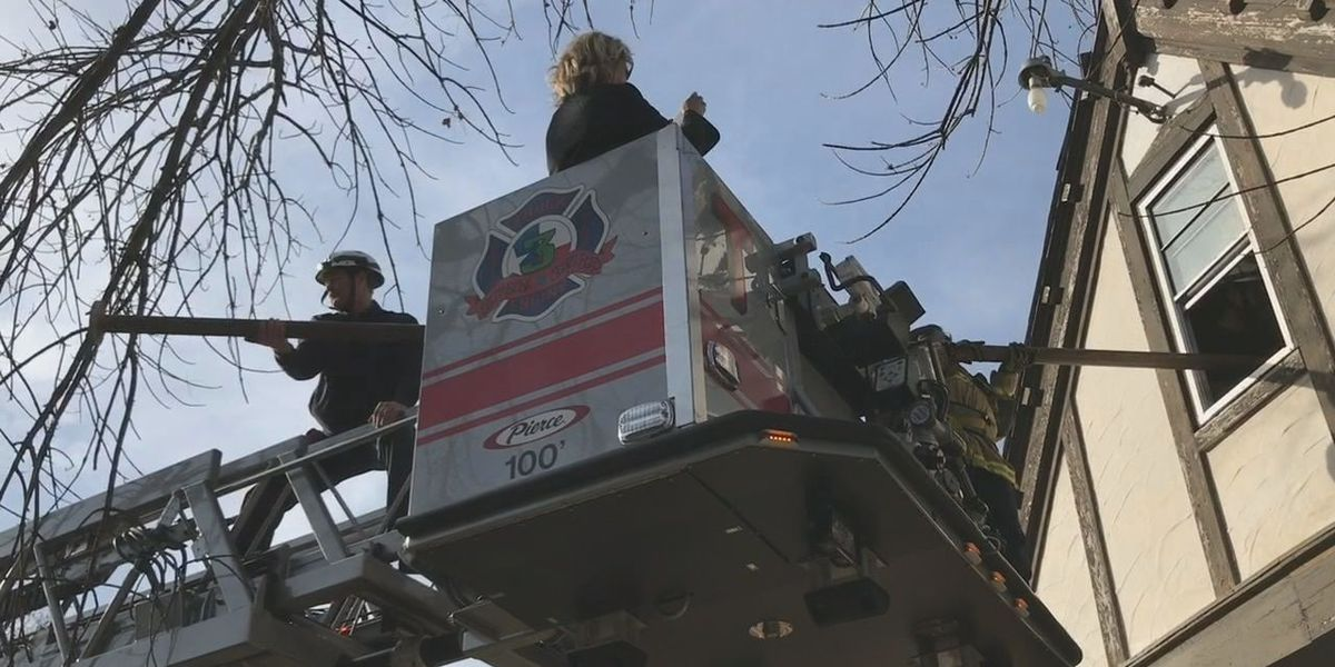 WEBXTRA: Longview Fire Department removes fire pole from historic Fire Station No. 3