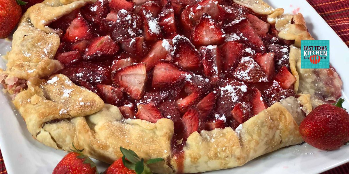 Springtime strawberry galette by Mama Steph