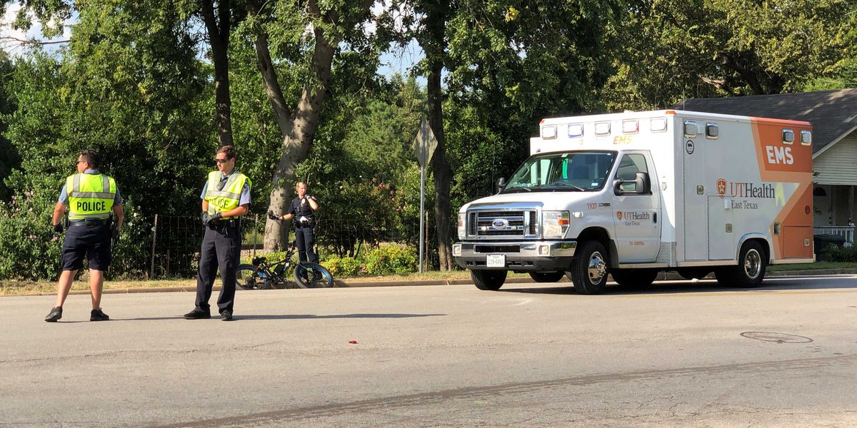 Bicyclist taken to hospital by EMS following crash with vehicle in Tyler