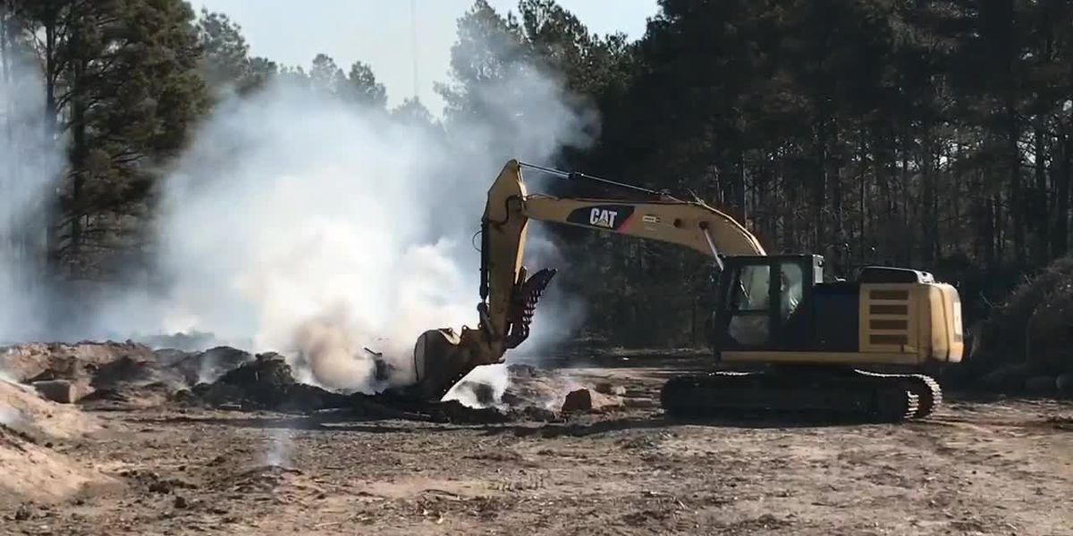 Residents worry about effects of smoke from compost fire
