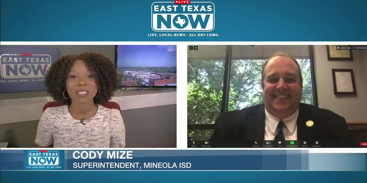 WATCH: Mineola ISD superintendent says only difference to typical start was masks, distancing