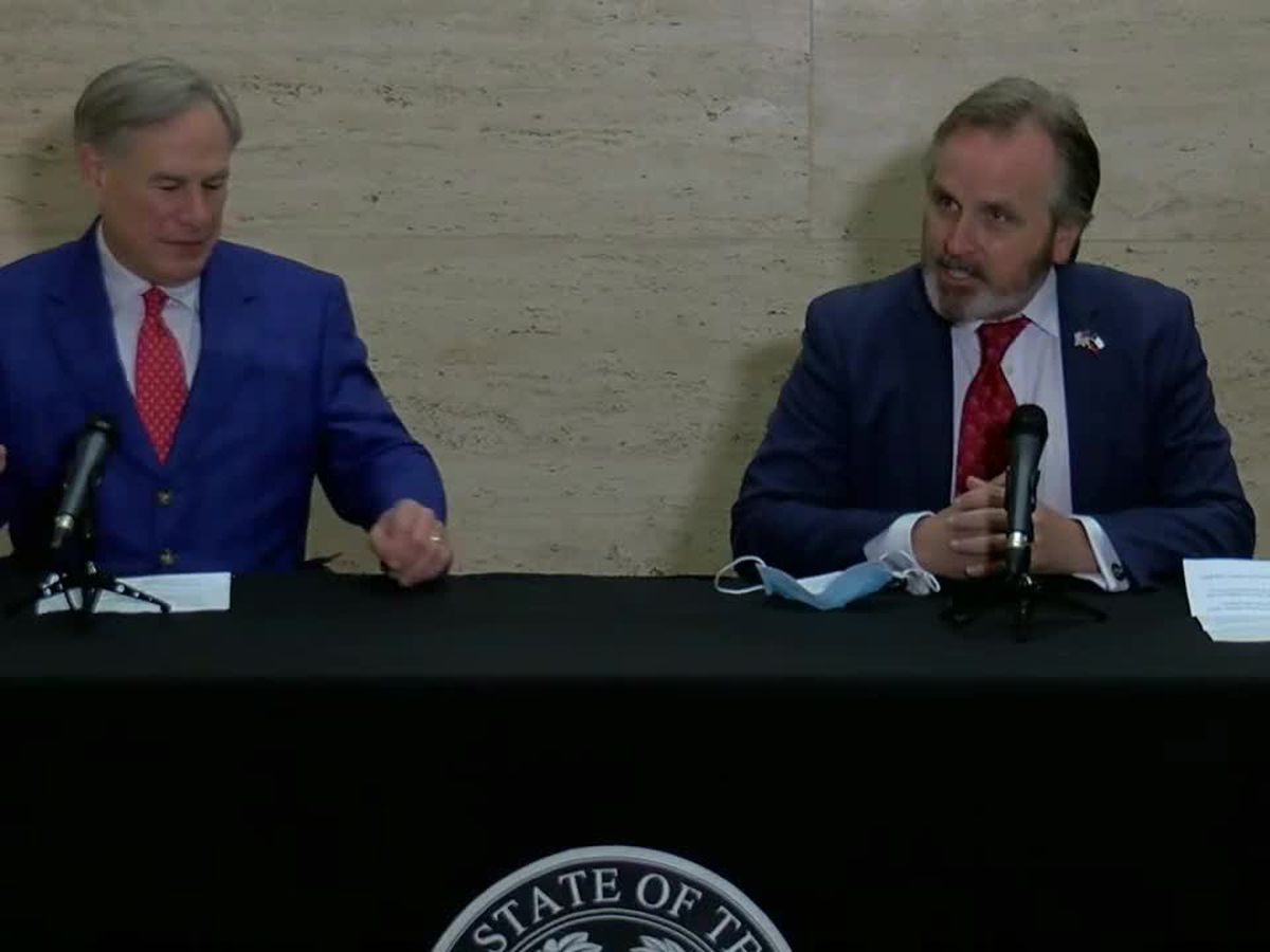 Gov. Abbott holding press conference with Sen. Hughes on social media legislation in Tyler Friday