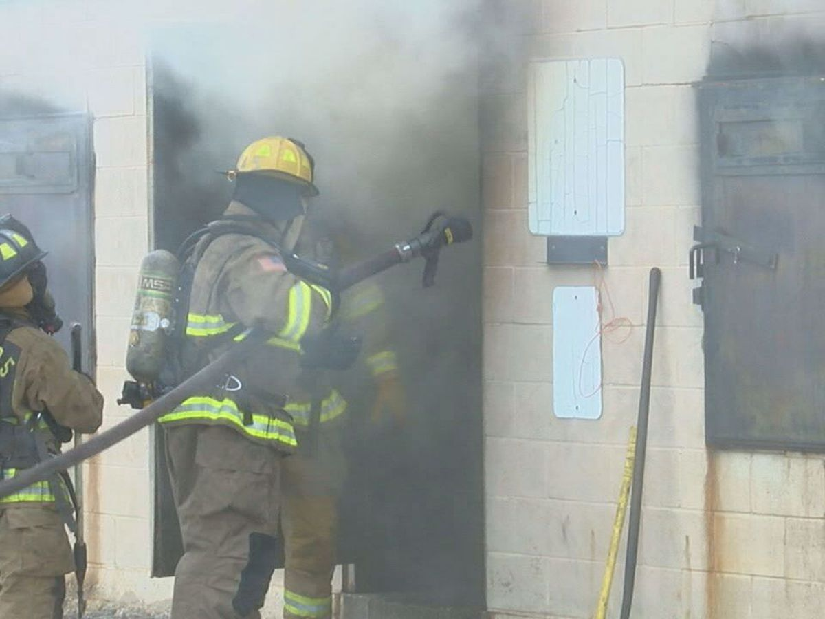 Tyler Junior College Fire Academy conducting live fire training all week
