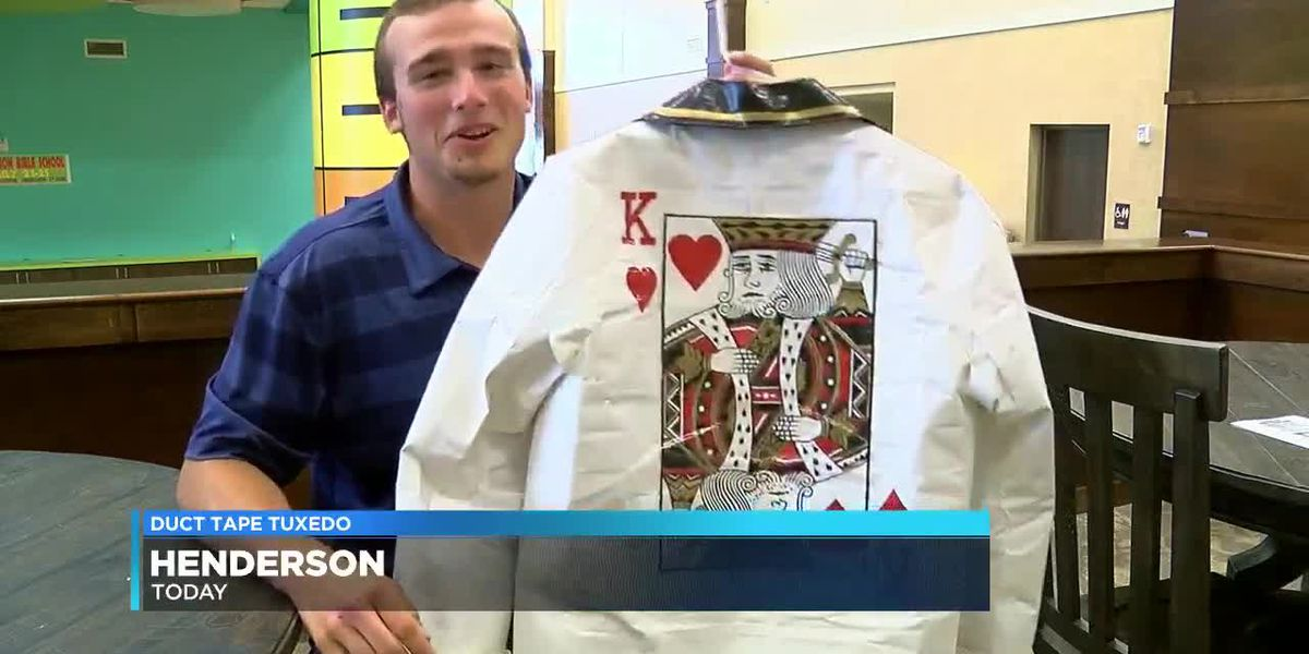 East Texas high school grad makes tux out of tape to help pay for college