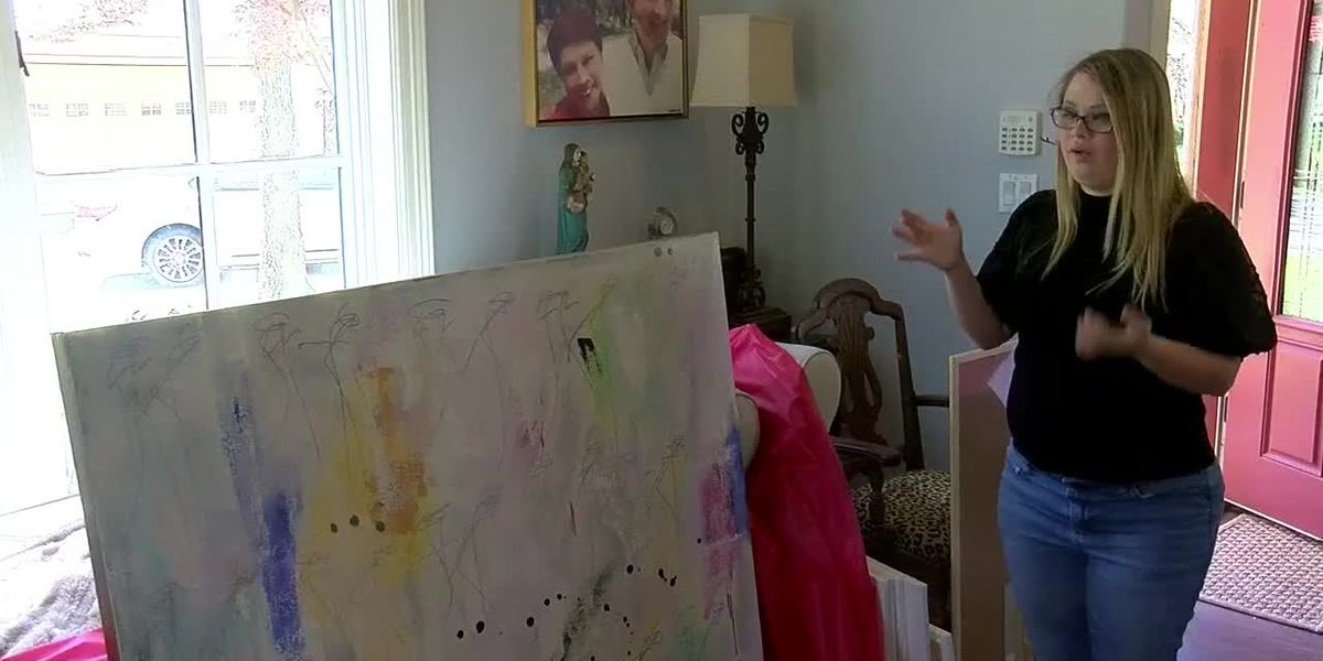 ArtWalk features work of Alex Mack, student artist with Down Syndrome