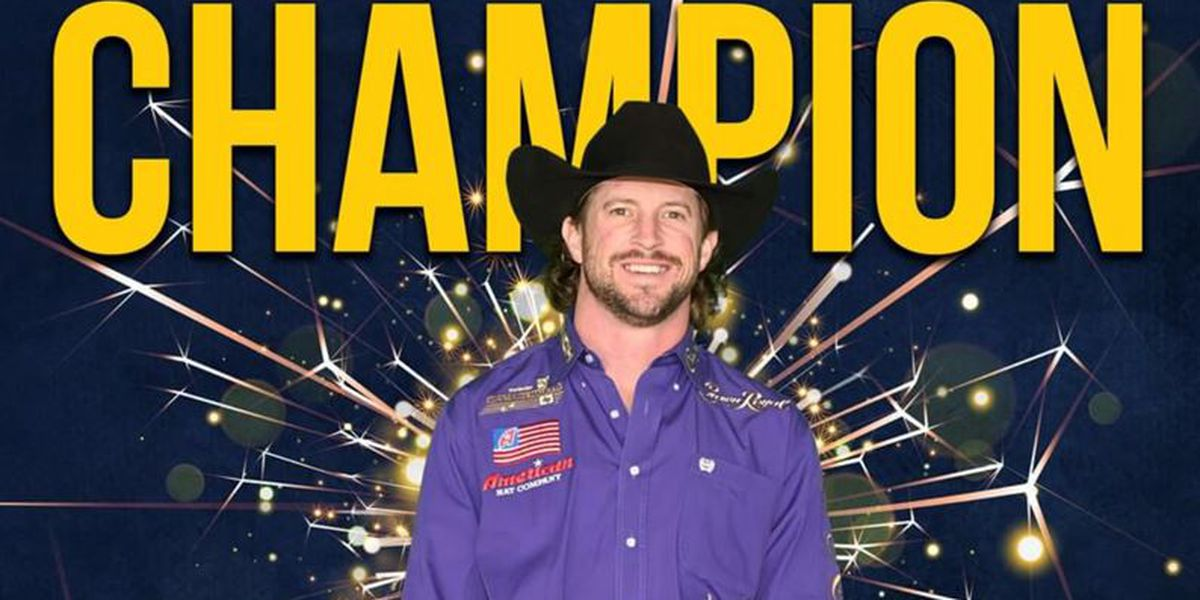 Carthage native wins bareback riding competition at RFD TV's American Rodeo