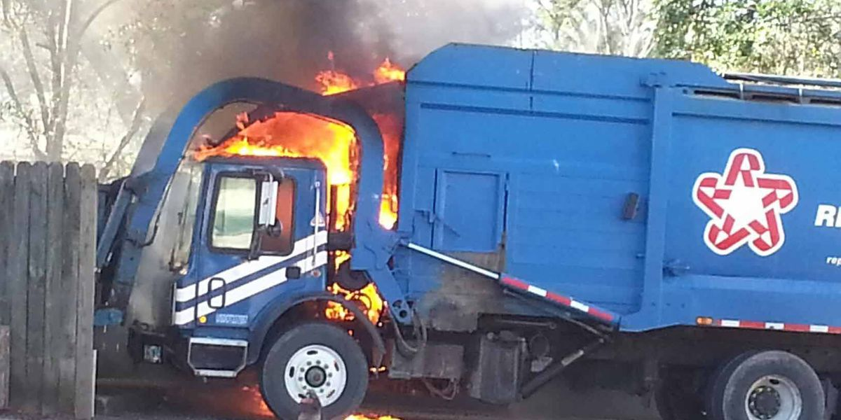 Crews respond to truck fire at apartment complex