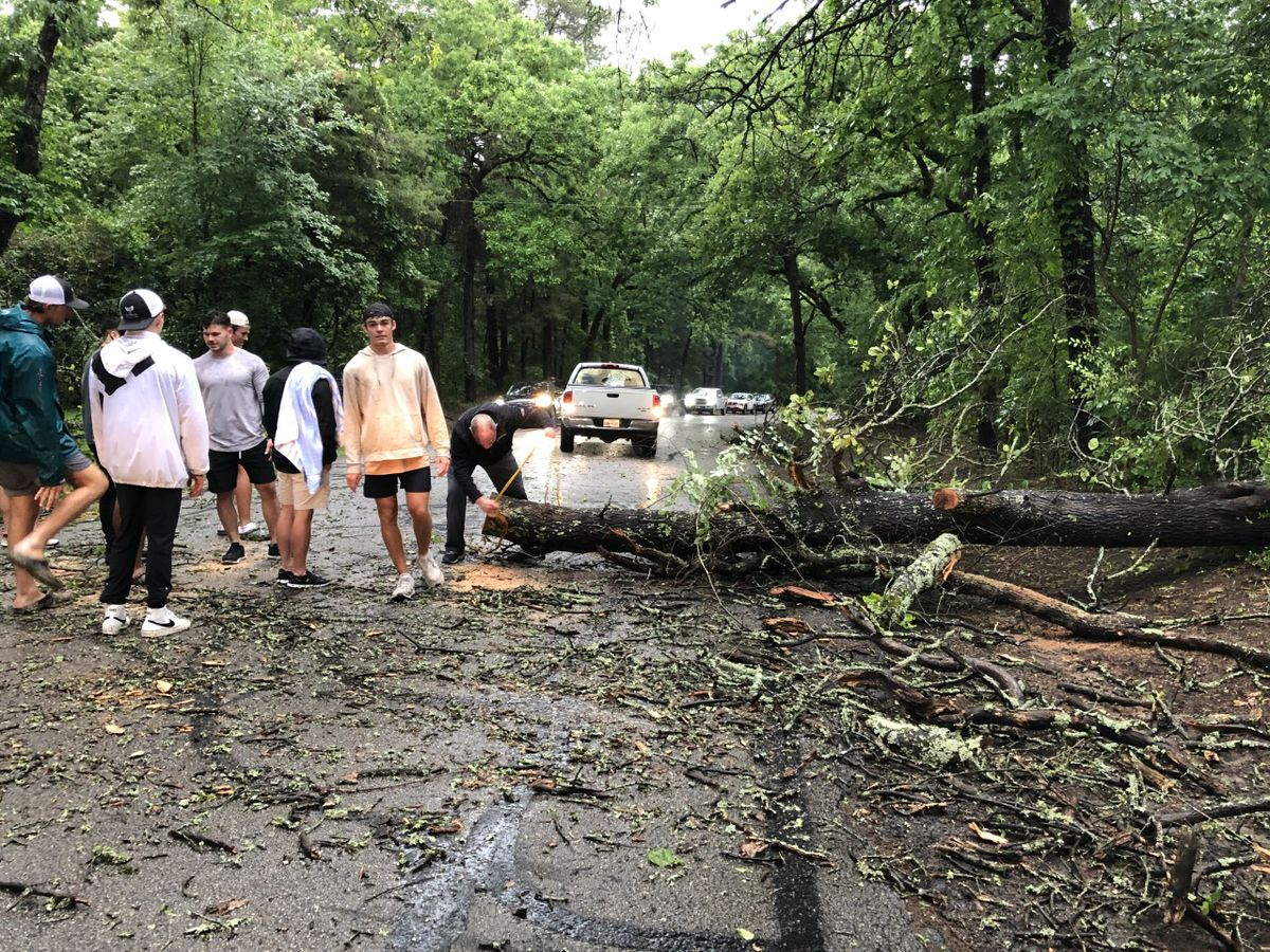 Trees down across roadways; flooded streets causing issues in East Texas