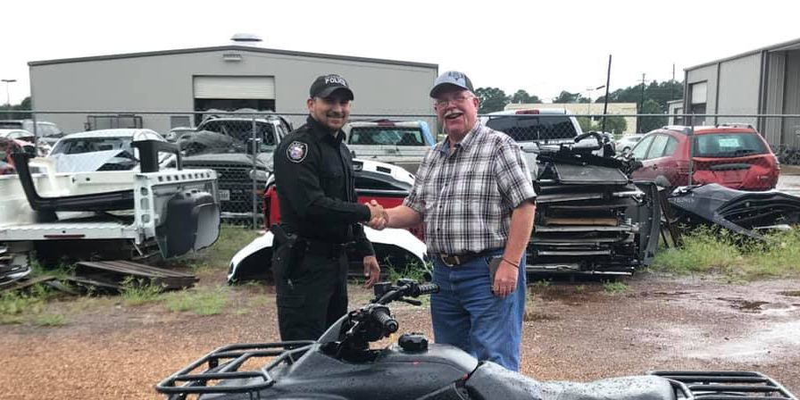 Crockett police return ATV to man 17 years after it was stolen