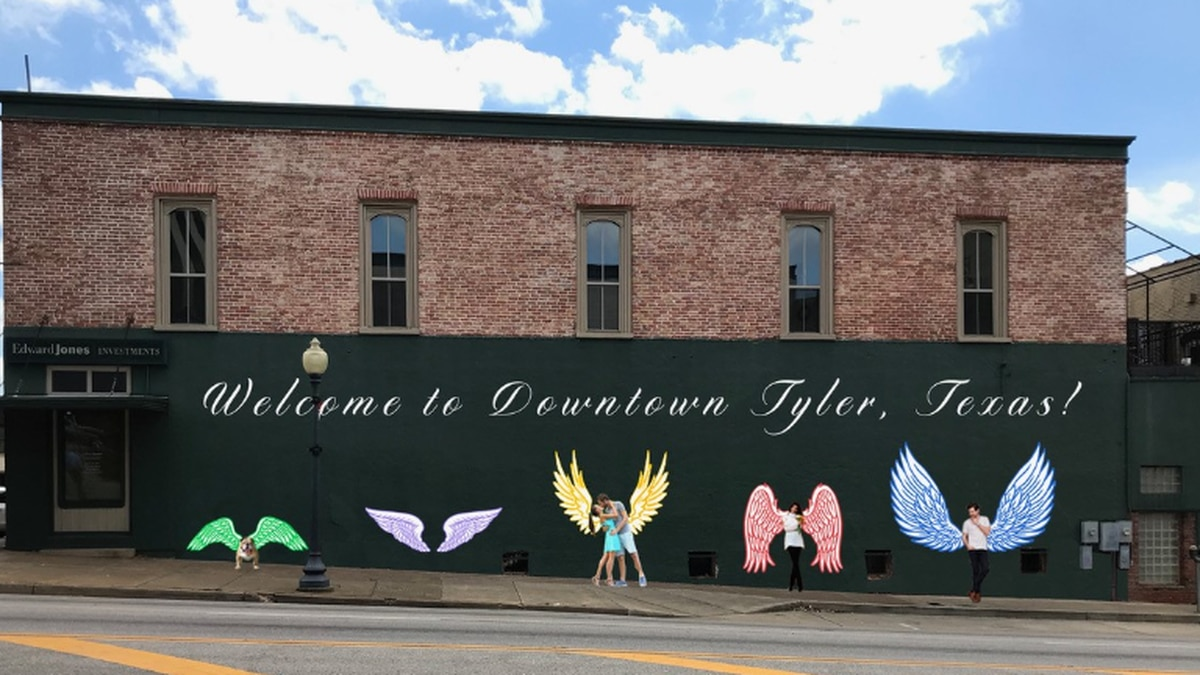 Downtown revitalization continues as two artists collaborate on 'Wings of Tyler'