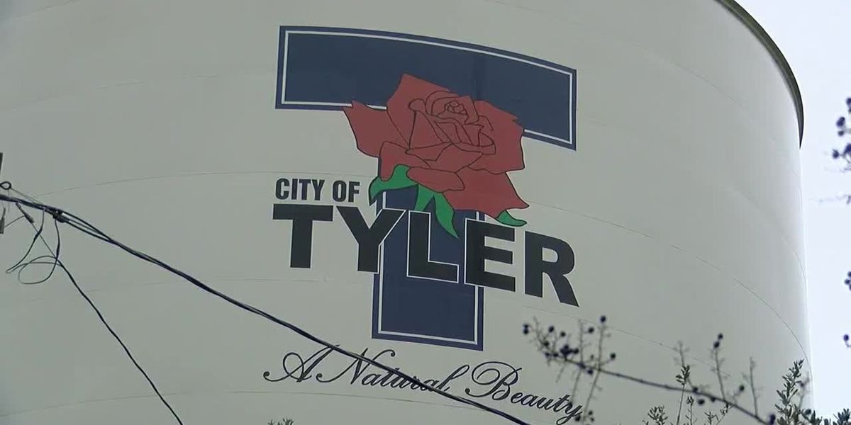City of Tyler drains water tower to clean, repaint interior