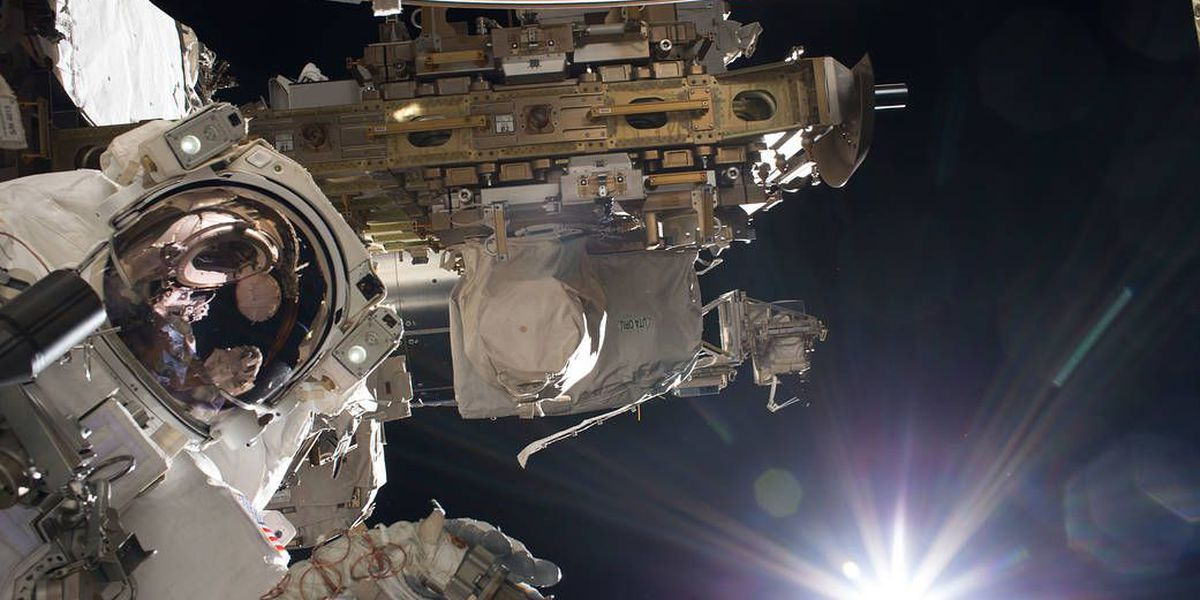The International Space Station was visible over East Texas Tuesday night