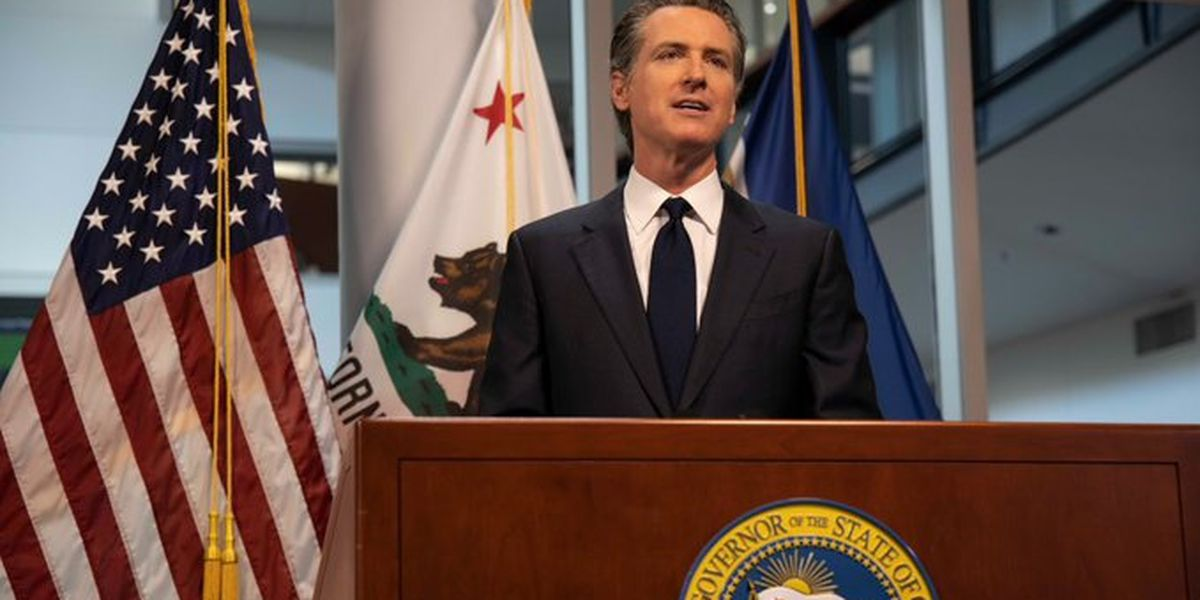 California governor: Most of state nears stay-home order