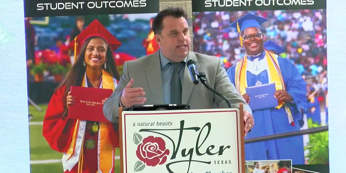 Tyler ISD superintendent give State of District Address at luncheon