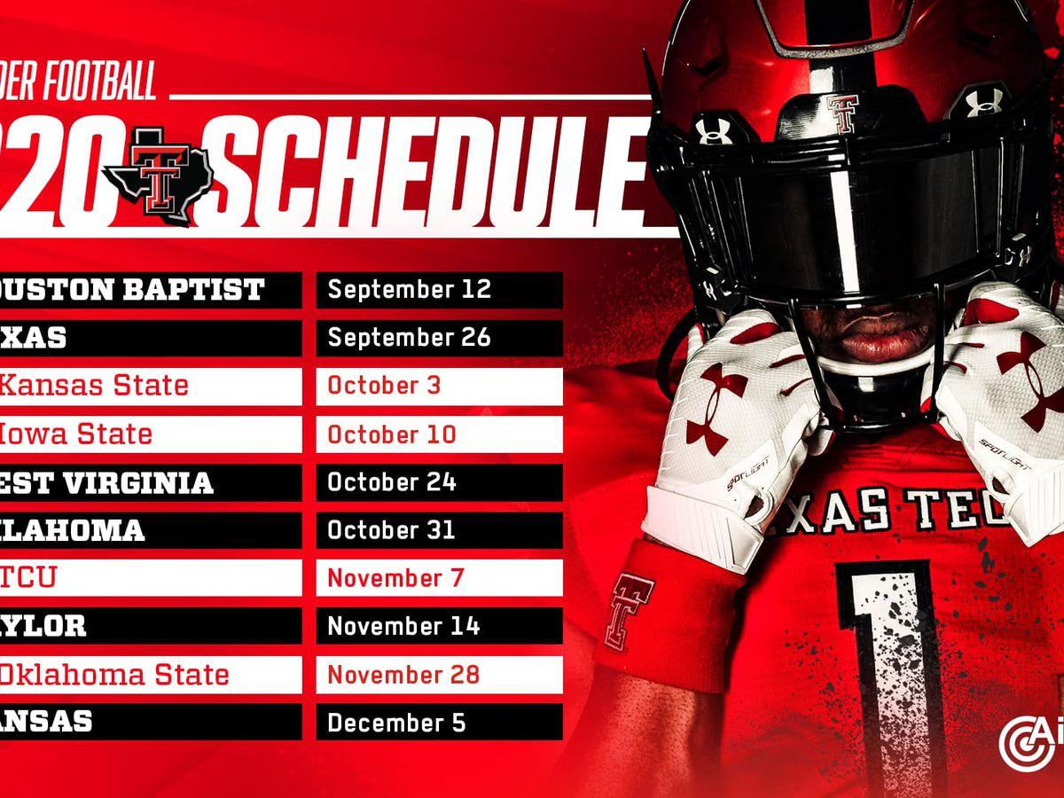 Texas Tech football schedule released, Big 12 opener against the Texas Longhorns