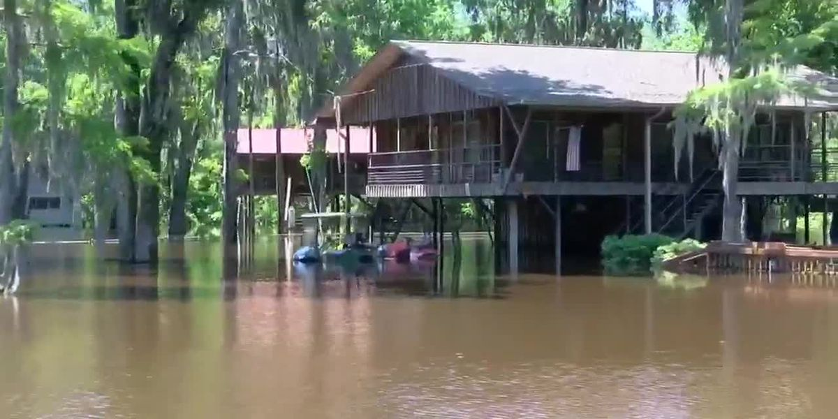 Caddo Lake level dropping, residents still displaced