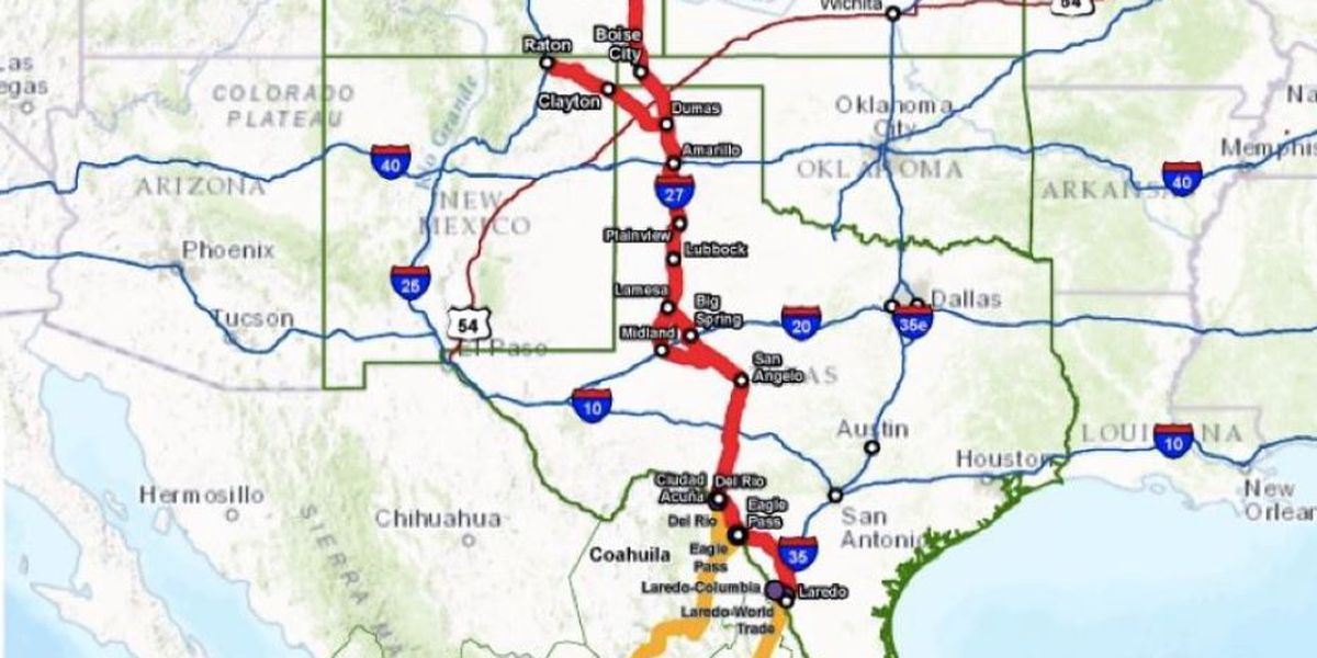 Texas congressmen introduce bill to designate I-27 extension as federal highway