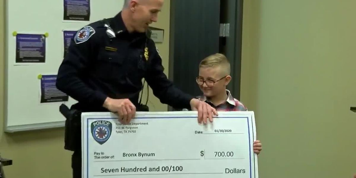 Tyler police surprise student participating in Jack Elementary shoe drive