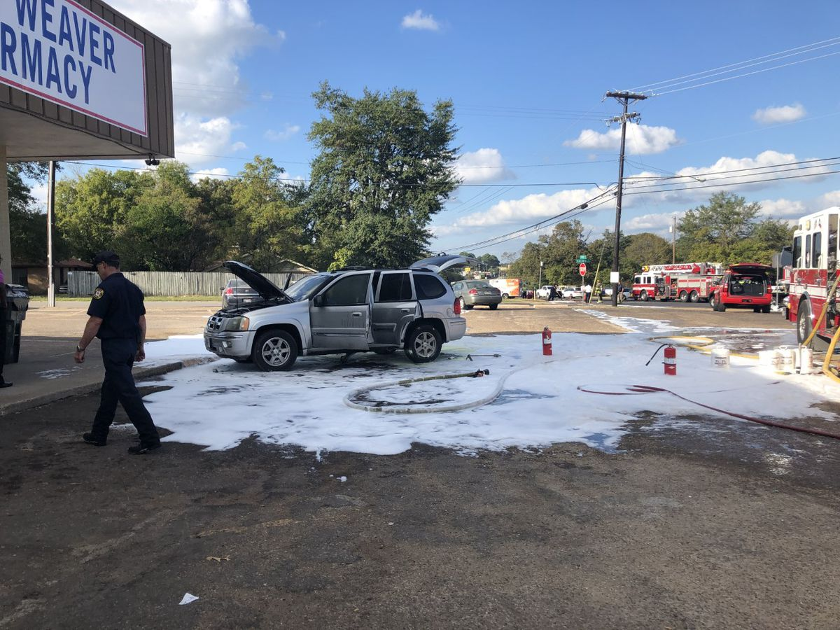 Crews respond to car fire near intersection of Gentry and Baldwin in Tyler