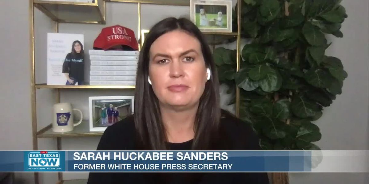 WATCH: Former White House press secretary Sarah Huckabee Sanders joins East Texas Now to discuss new book