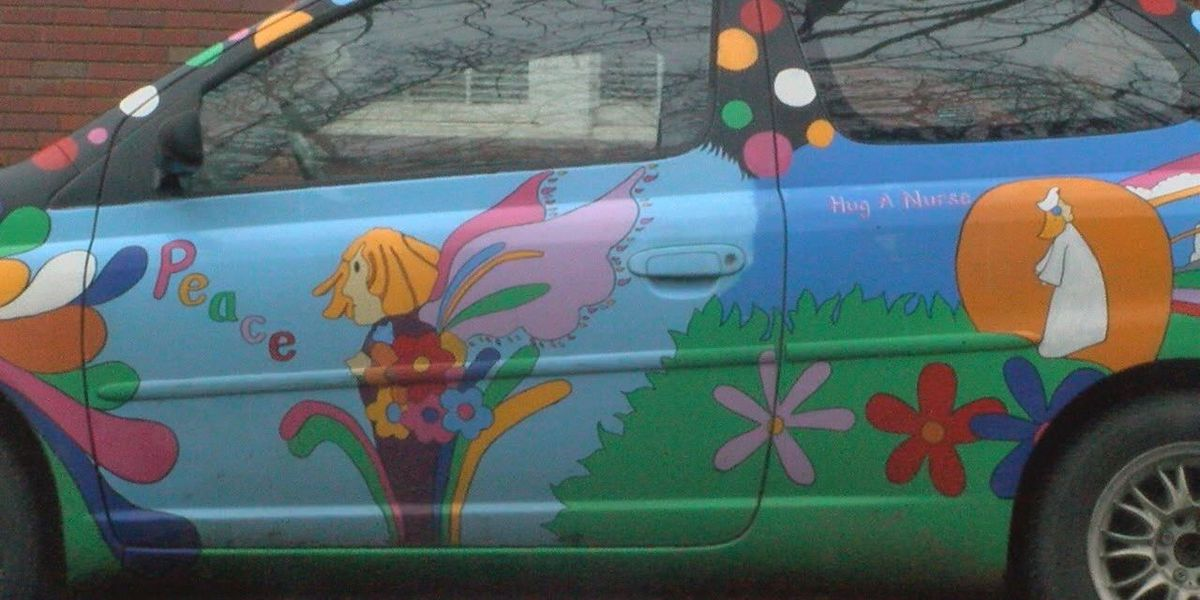 Colorful car with inspirational story turning heads on Tyler streets