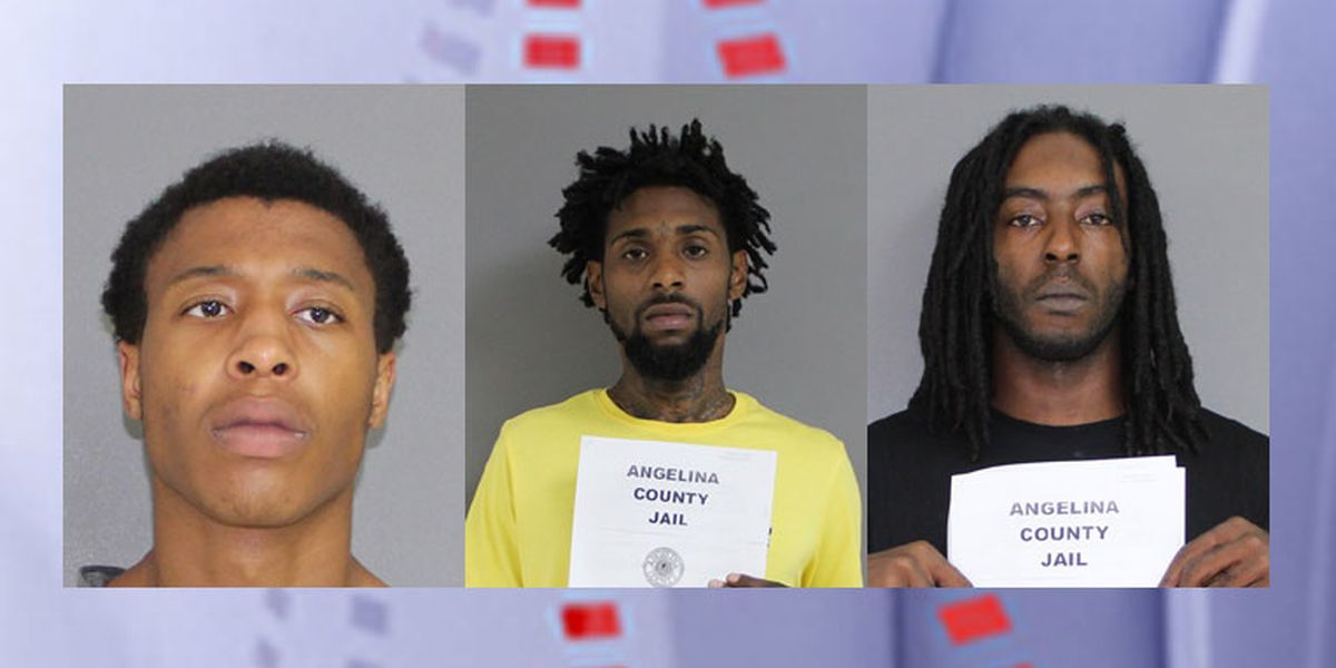 Diboll police, ACSO deputies arrest 3 after tracker on stolen car reveals location