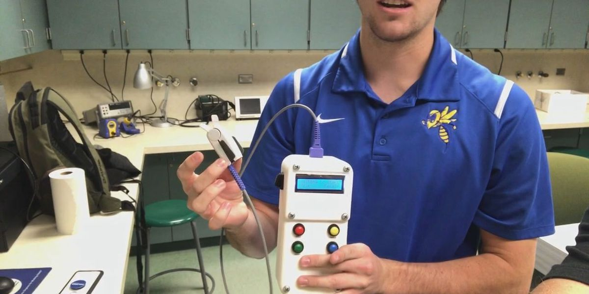 LETU students develop device that tests iron levels without drawing blood