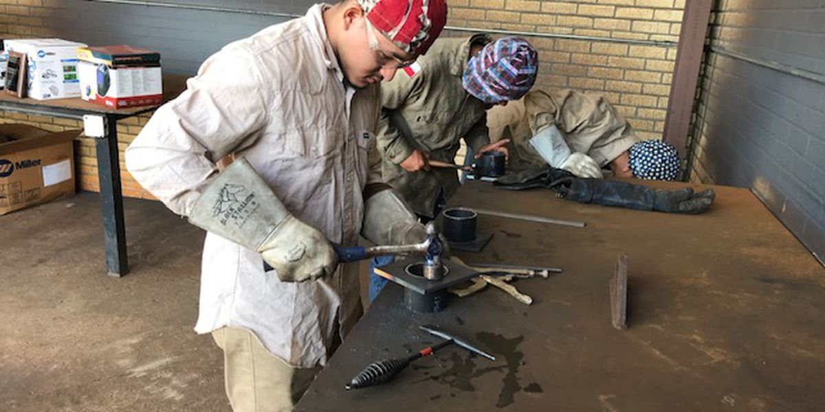 High school students compete in welding contest at Kilgore College