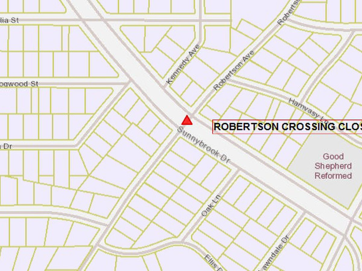 Road closure on Robertson at Sunnybrook intersection in Tyler begins March 22
