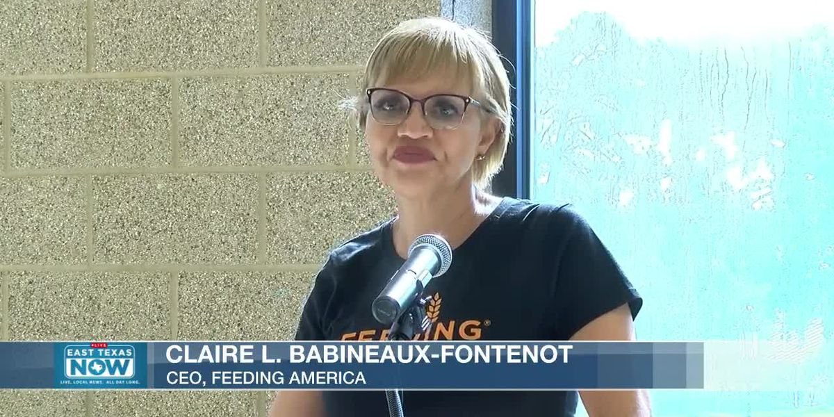 WATCH: East Texas Food Bank press conference with Feeding America