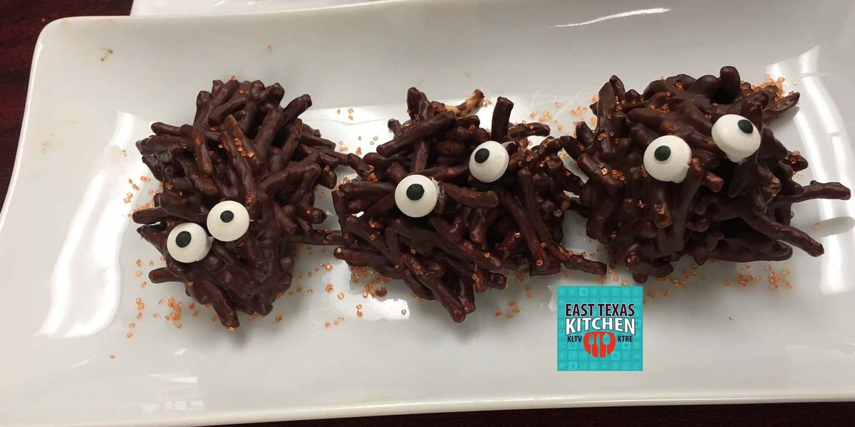 Chocolate haystack creatures by Mama Steph
