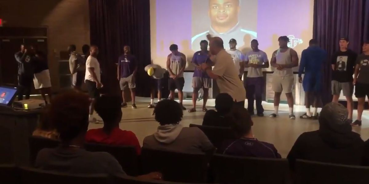 SFA Coach Carthel surprises senior with scholarship