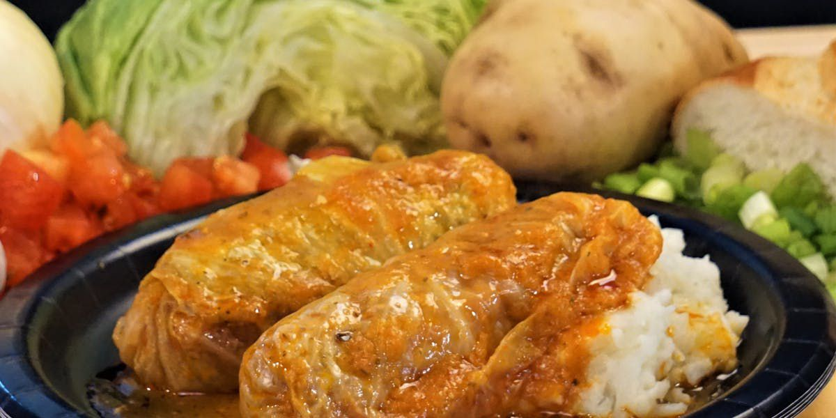 Stuffed cabbage Rolls by Brigitta's Hungarian Restaurant