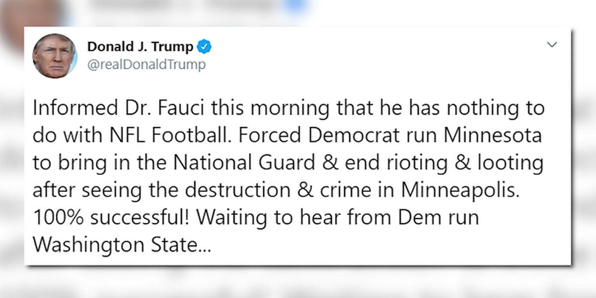 Trump: Fauci has nothing to do with football