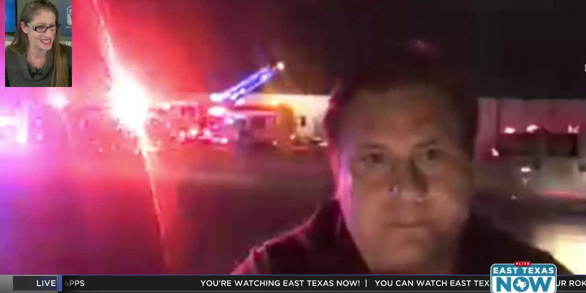 VIDEO: East Texas Now at the scene of Athens industrial firea