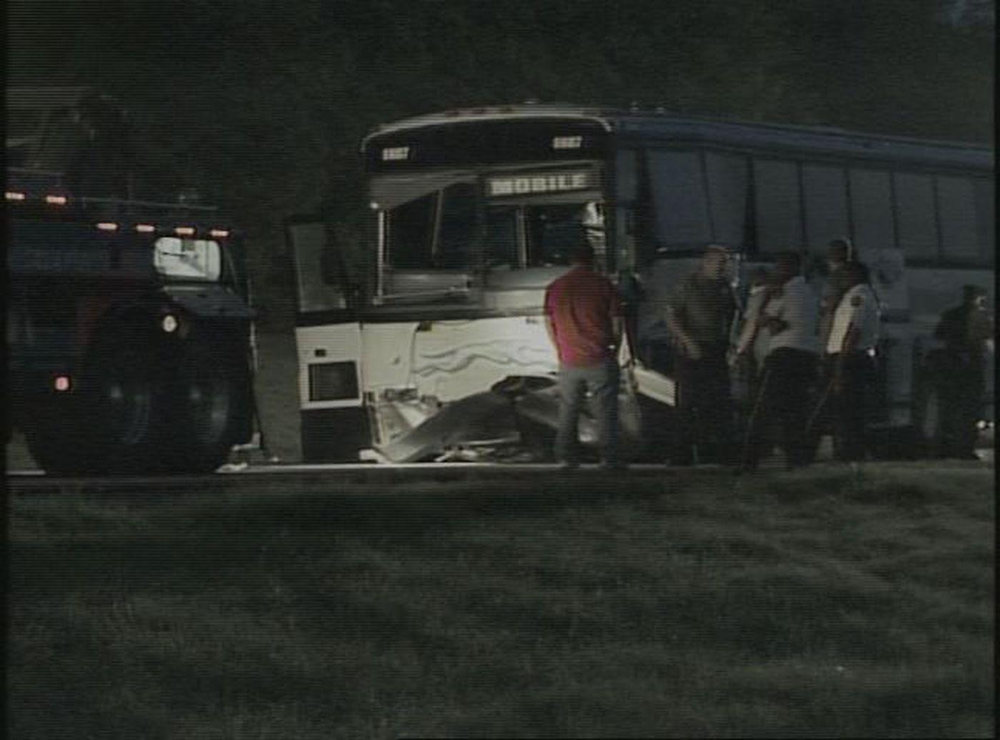 SUV & Greyhound Bus Crash Head-On: 1 Dead, 52 Injured