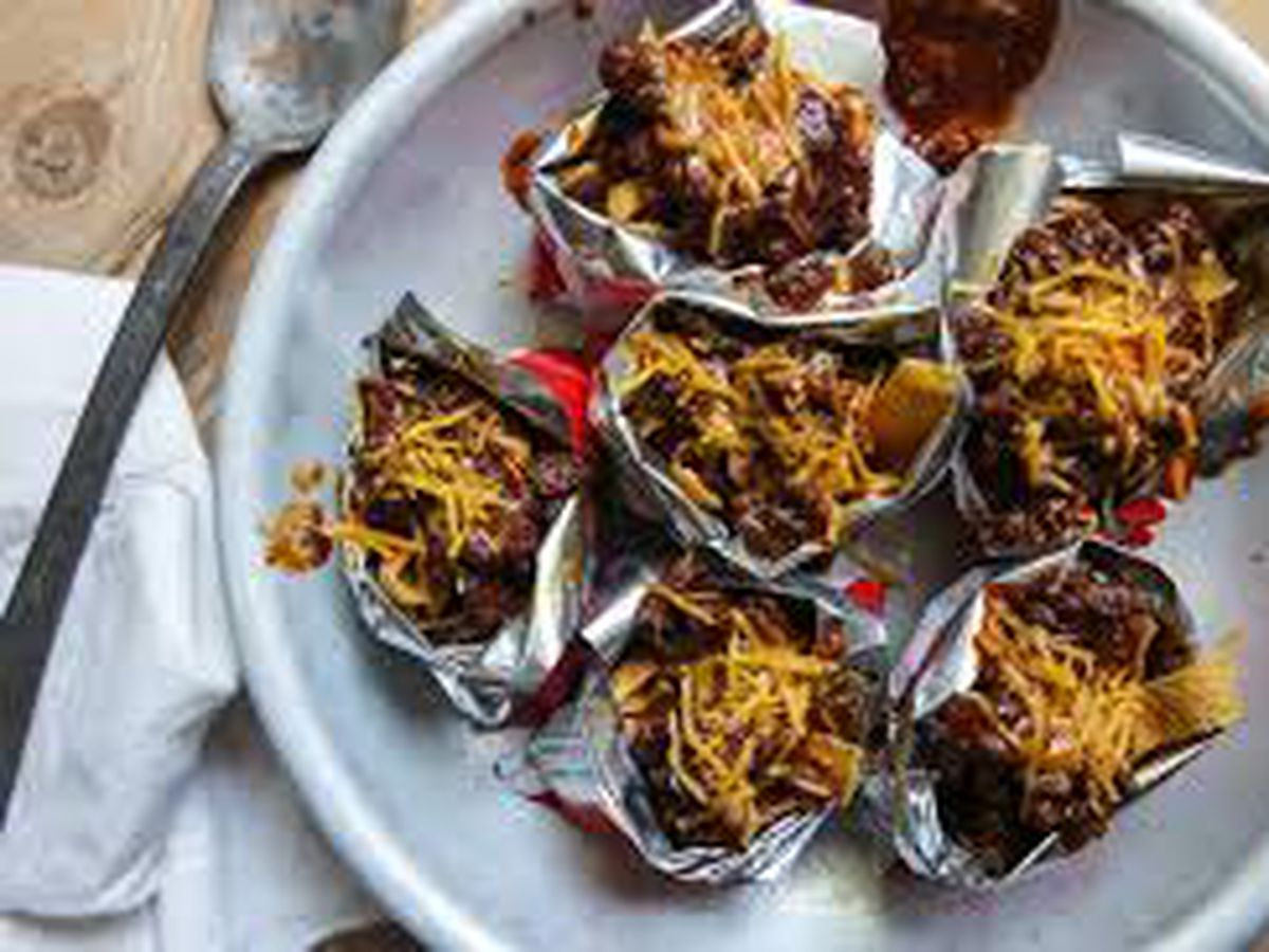 Brisket and sausage Frito pie by the Texas Beef Council's Shalene McNeill