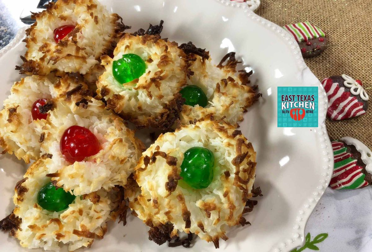 Coconut Macaroons With Candied Cherries