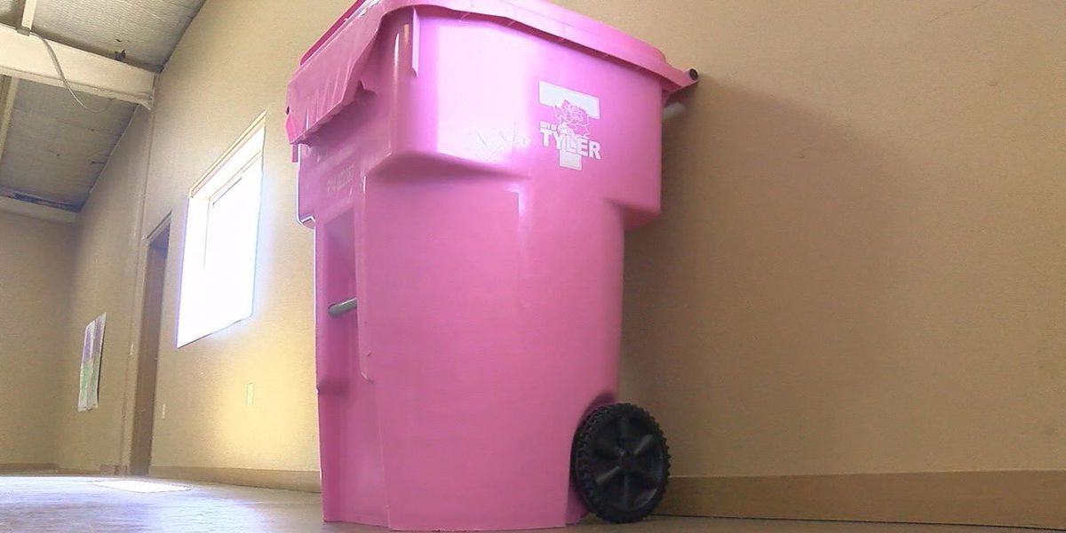 City of Tyler offers pink garbage cans for breast cancer awareness