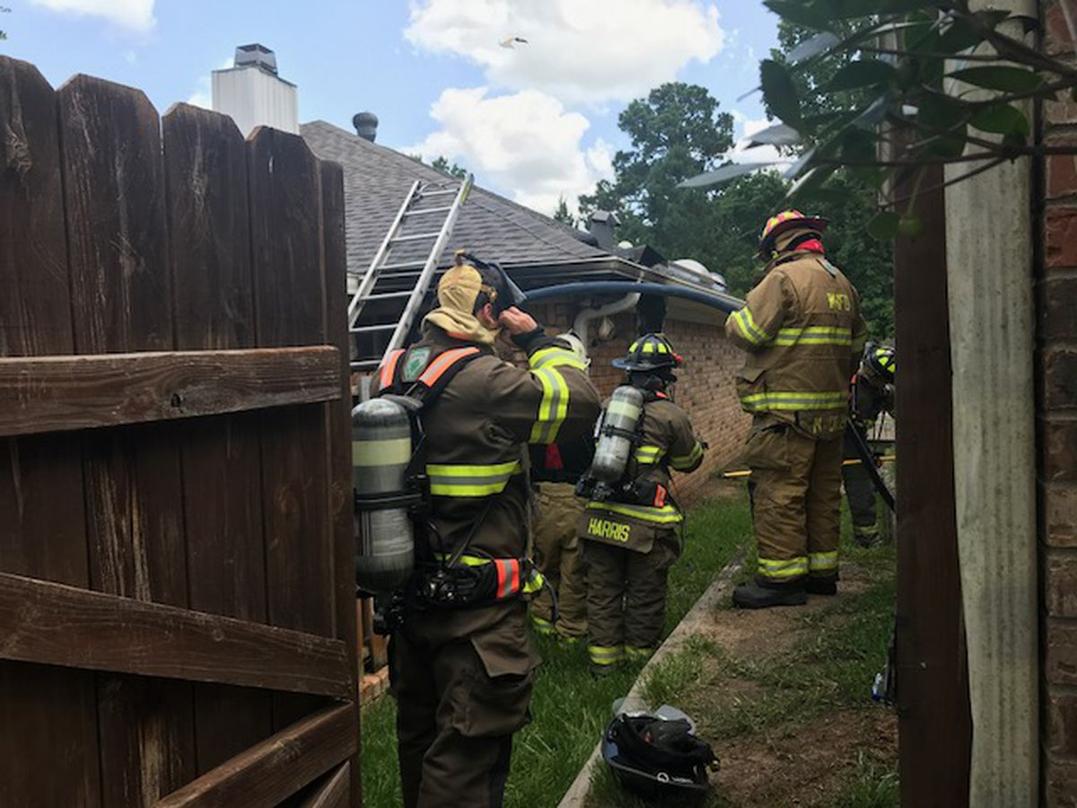 Crews respond to house fire north of Longview